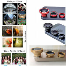 Magnetic 3 in1 Fisheye Lens+Wide Angle+Macro Camera Lens iPhone Samsung Galaxy S