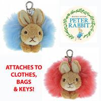 Peter Rabbit Flopsy Beatrix Potter Bag Clip Pom Plush Toy by GUND - New & Sealed
