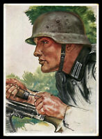 WW2 WWII Germany 3rd Reich Picture Postcard German Hitler Army Infantry Willrich