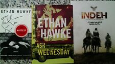 Ethan Hawke Signed 3 Book Set Ash Wednesday The Hottest State Indeh