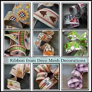 Ribbon - wired edge USA style  - 38mm & 63mm - 79 variations - 4 meters UK