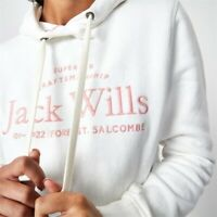 Jack Wills Women's Hunston Embroidered Hoodie In Vintage White