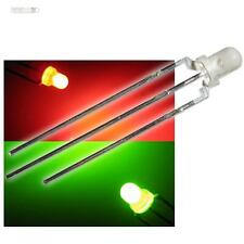 50 bi-color LEDs 3mm difuso: rojo/verde LED 3 pines Duo Red Green dos colores