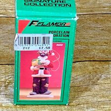 Flambro Emmett Kelly Porcelain 1991 Christmas Ornament Signature Collection 9659