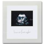 Sonogram Picture Frame - White Wooden Baby Ultrasound Photo Frames - Cute Nurser
