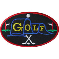 Golf Patch Iron Sew On Clothes Embroidered Badge Clubs Balls Embroidery Applique