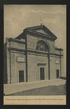 cartolina MONTECASTELLO VIBIO facciata chiesa arcipretale