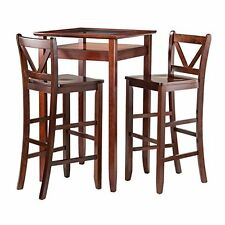 Winsome Halo 3pc Pub Table Set with 2 V-Back Stools-94586 NEW