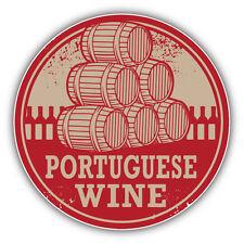"""Portuguese Wine Grunge Stamp Portugal Car Bumper Sticker Decal 5"""" x 5"""""""