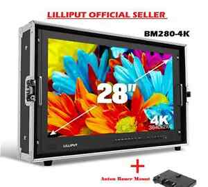 LILLIPUT BM280-4K Broadcast Ultra-HD Monitor w/SDI ,HDMI,DVI,VGA,TALLY+Gold MOUN