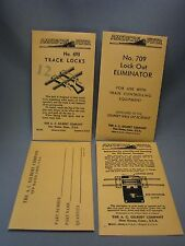 Envelopes for American Flyer Accessories - Parts, 709, 704, and 693