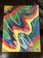 """ORIGINAL ACRYLIC PAINTING CANVAS ABSTRACT 11"""" x 14"""""""