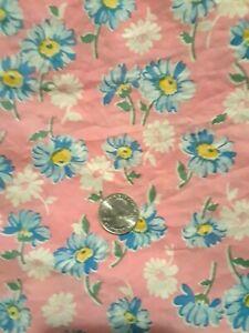 Vintage Full Pink Floral Feedsack