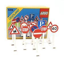 Lego 6315 Legoland Verkehrszeichen Strassenschilder 11 Stück OVP