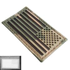 USA american reversed flag infrared IR multicam tactical laser cut hook patch