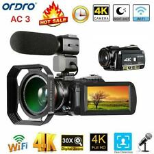 ORDRO AC3 4K 24MP WiFi Digital Video Camera IR Camcorder DV Recorder 30XZoom+Mic