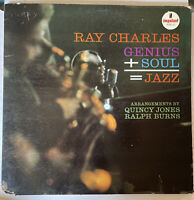Ray Charles LP Genius Soul = Jazz Lp Impulse a-2 MONO 1st press quincy jones
