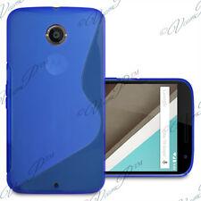 Accessoires Etui Coque Housse TPU Silicone gel BLEU Motorola Nexus 6/ Nexus X