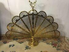 Vintage Firescreen Brass Dolphin Handle.nice Piece12 pics4size/detail.MAKE OFFER