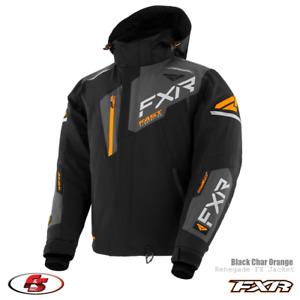 New 2021 FXR Renegade Men's Snowmobile Jacket Black/Char/Orange M L 2XL