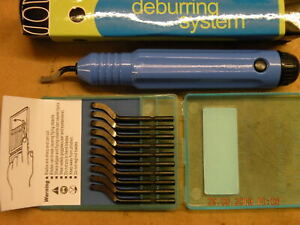 NB1100 hole deburring tool handle +11 blades BS1010 S10 deburring tool new