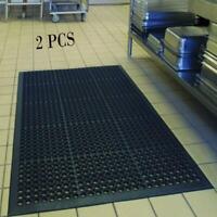 "2PCS Anti-Fatigue Floor Mat 36""*60"" Indoor Commercial Industrial Heavy Duty Use"