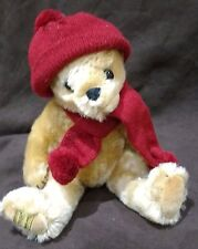 MERRYTHOUGHT HAT AND SCARF MOHAIR TEDDY BEAR - NO 100 OF 250 - NEW WITH TAGS