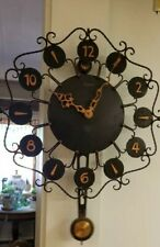 ANTIQUE JUNGHANS SWINGER WALL CLOCK ELECTRIC BATTERY OPERATED