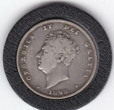 1825   King  George   IV  Sterling  Silver  Shilling  British Coin