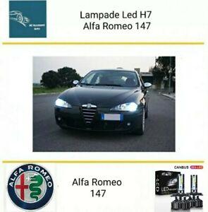 Kit Led H7 ZES 6000k 12000 LM Anabbaglianti Alfa Romeo 147 No Error Canbus White