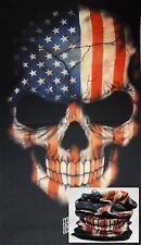 Us Flag Skull Face Mask Sun Shield Neck Gaiter Headband Bandana Du Rag Skull Cap