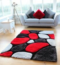 Red Black And Grey Rug For Ebay