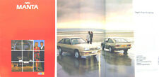Opel Manta GT/J Berlinetta 1982-83 Original UK Sales Brochure Pub. No. V2598