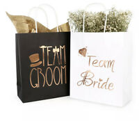 10 pc Bridal Wedding Party Gift Bags Bridesmaid Gift Bag Bachelorette Party Bags