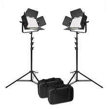 LED Panel 2 Head Kit Video Lighting Studio Daylight Balance 5500K UK VNIX1000S