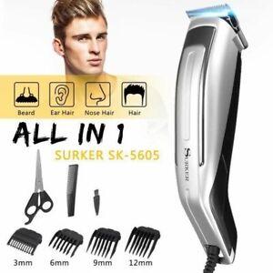 Tondeuse cheveux filaire  professionnelle surker avec 4 sabots accessoires neuf