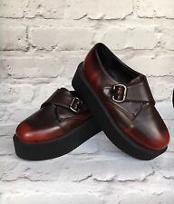 Creepers trainers Cosplay Steampunk SKA Goth fancy dress Party Red Black sz 3.5