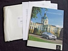 2004 2005 Mercedes European Delivery Brochure SL55 AMG SLK350 G55 E500 Catalog