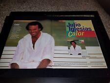 Julio Iglesias Calor Rare Original Promo Poster  Ad Framed!
