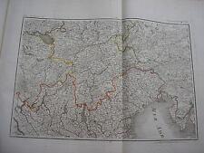 CARTE du Lac de CONSTANCE & VENISE par Chanlaire carte ancienne Trieste Tyrol