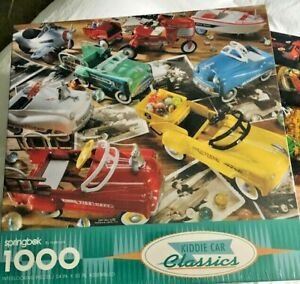 NEW Sealed 1993 Springbok Puzzle MURRAY KIDDIE CAR CLASSICS 1000 pc PEDAL CARS