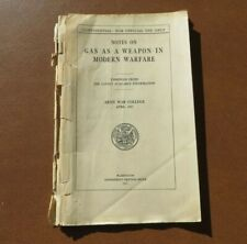 Ww1 Us Army Military Gas As A Weapon Modern Warfare 1917 Book