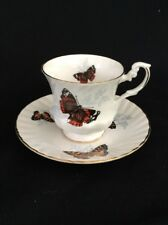 Beautifully Butterfly Tea Cup And Saucer-Vintage Royal Dover bone china England