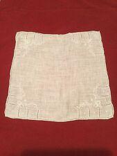 Vintage White On White Wedding Hanky Hankie Embroidered And Drawnwork