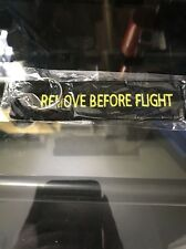 Remove Before Flight BLK Embroidered Label Key Chain Luggage Tag CANADIAN SELLER