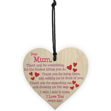 dear mum diy wooden heart plaque wine tags hanging signs decor FT
