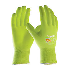 Work Gloves Maxilfex Ultimate Fluorescent Yellow Gloves 3 PAIR PACK MED