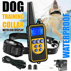Waterproof Pet Dog Training Collar Rechargeable Electric Shock LCD Display 2021