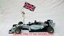 additional HAMMERTIME decals flag Mercedes W05 Hamilton WC 2014 1/18 mincihamps