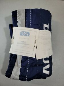 NEW Pottery Barn Kids STAR WARS DROID Quilted Standard Sham  MONO DHRUV